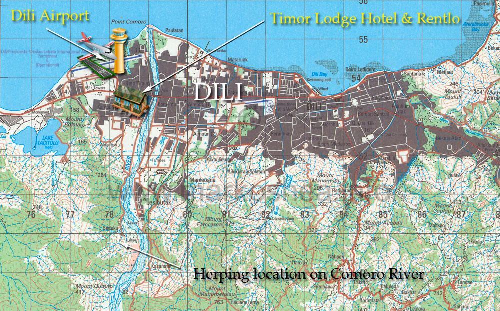 Dili Timor-Leste Map