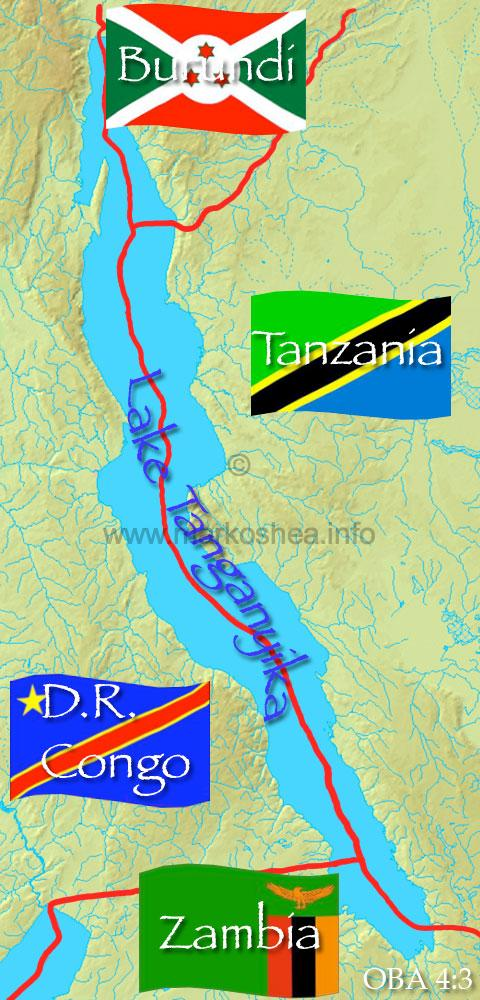 Lake Tanganyika On A Map Of Africa.Mark O Shea The Official Website